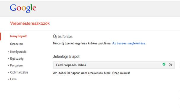 Google webmester eszközök weboldal karbantartás