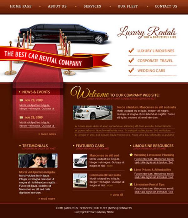 luxus oldal webgrafika