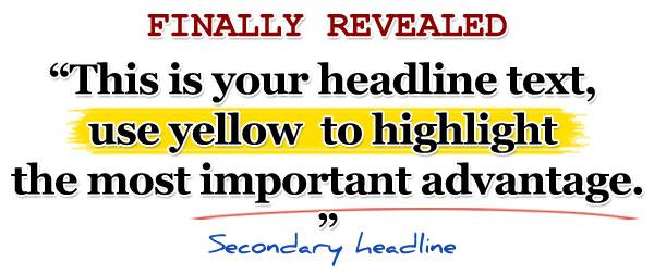 sárga szövegkiemelés
